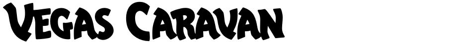 Click to view Vegas Caravan font, character set and sample text