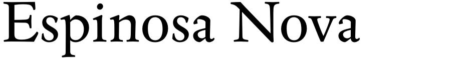 Click to view Espinosa Nova font, character set and sample text
