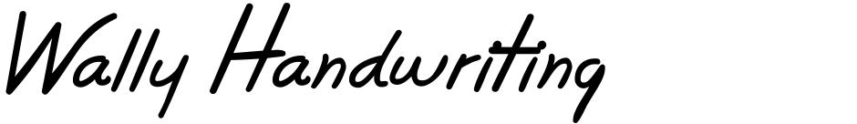 Click to view Wally Handwriting font, character set and sample text