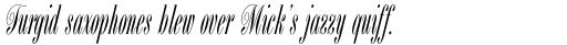 Bordeaux Script sample