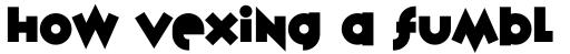 Variex Bold sample