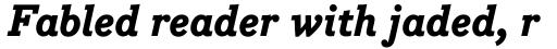 Bodoni Egyptian Pro ExtraBold Italic sample