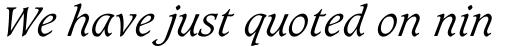 Caxton Light Italic sample