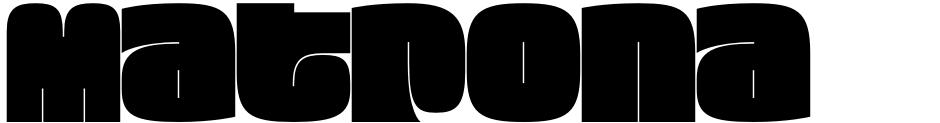 Click to view Matrona font, character set and sample text
