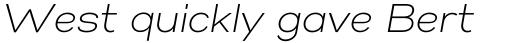 Gabriel Sans Light Italic sample
