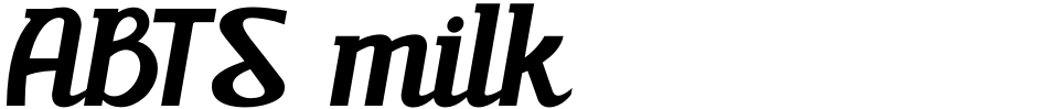 Click to view ABTS milk font, character set and sample text