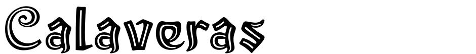 Click to view Calaveras font, character set and sample text