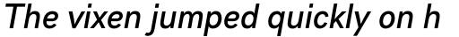 Gabriel Sans Condensed Medium Italic sample