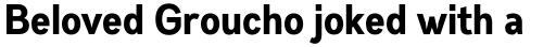 Gabriel Sans Condensed Bold sample