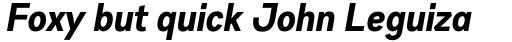 Gabriel Sans Condensed Bold Italic sample