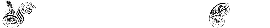 Click to view Seddon Penmans Paradise Capitals font, character set and sample text