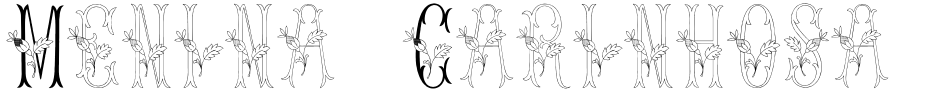 Click to view Menina Carinhosa font, character set and sample text