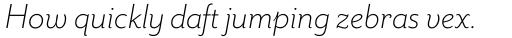 Mr Eaves Sans Light Italic sample