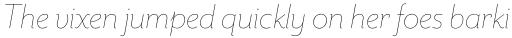 Mr Eaves Sans Thin Italic sample