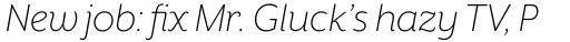 Mr Eaves XL Sans Light Italic sample