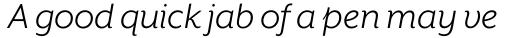 Mr Eaves XL Sans Book Italic sample