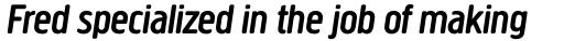 Creighton Pro Medium Italic sample