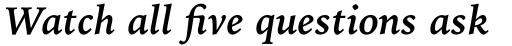 Iowan Old Style Pro Bold Italic sample