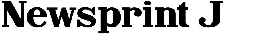 Click to view Newsprint JNL font, character set and sample text
