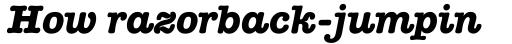 American Typewriter Bold Italic sample
