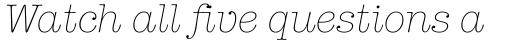 American Typewriter Light Italic sample