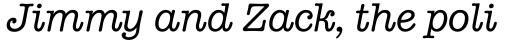 American Typewriter Italic sample