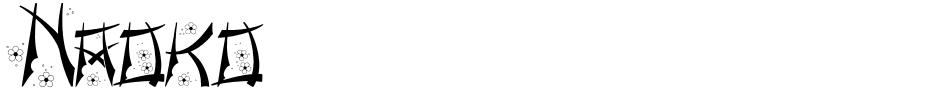 Click to view Naoko font, character set and sample text