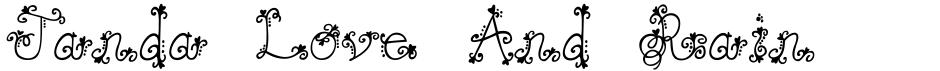 Click to view Janda Love And Rain font, character set and sample text