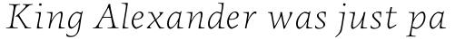 FF Angkoon OT Light Italic sample