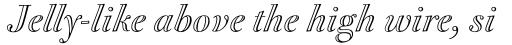 FF Acanthus Open OT Italic sample