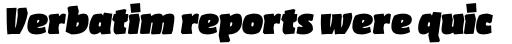 FF Amman Sans Pro Black Italic sample