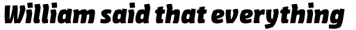 FF Amman Sans Pro Extra Bold Italic sample