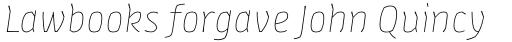 FF Amman Sans Pro Thin Italic sample