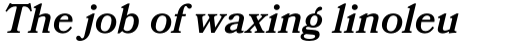 Bookmania SemiBold Italic sample