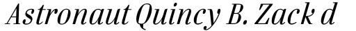 FF Danubia OT Italic sample