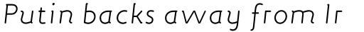 FF Engine Std Light Italic sample