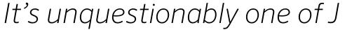 FF Sero Pro ExtraLight Italic sample