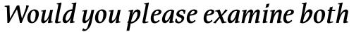 FF Tarquinius Pro DemiBold Italic sample