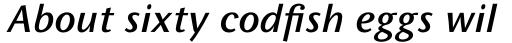 FF Wunderlich OT Medium Italic sample