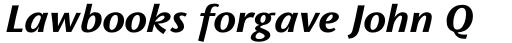 FF Wunderlich OT Bold Italic sample