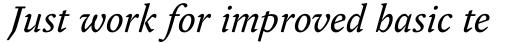 FF Yoga Pro Italic sample