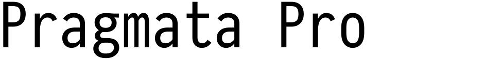 Click to view Pragmata Pro font, character set and sample text