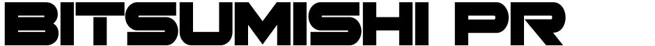 Click to view Bitsumishi Pro v2 font, character set and sample text