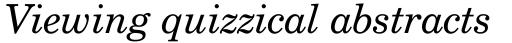 Century Schoolbook WGL4 Italic sample