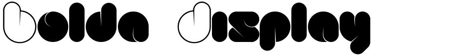 Click to view Bolda Display font, character set and sample text