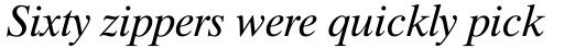 Dutch 801 WGL4 Italic sample