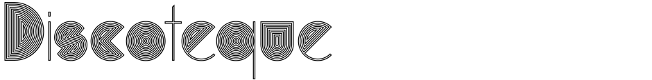 Click to view Discoteque font, character set and sample text