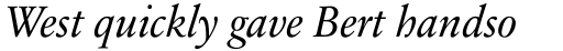 Sabon Next LT Italic OsF sample