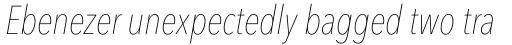 Avenir Next Pro Condensed UltraLight Italic sample