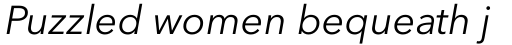 Avenir Next Pro Italic sample